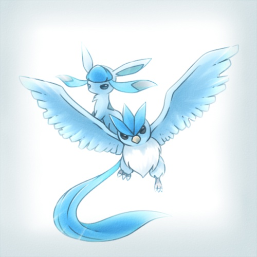 Articuno and Glaceon