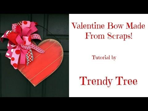 Valentine Bow Tutorial using Scrap Ribbon Facebook Live 2/1/17 by Trendy Tree - YouTube