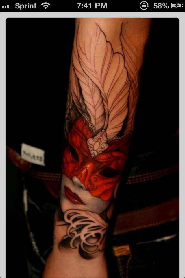 Masquerade Mask Tattoo   Love the masquerade mask tattoo   Tattoos
