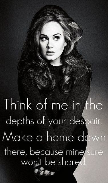 Adele - Rolling in the Deep Quote | Flickr - Photo Sharing!
