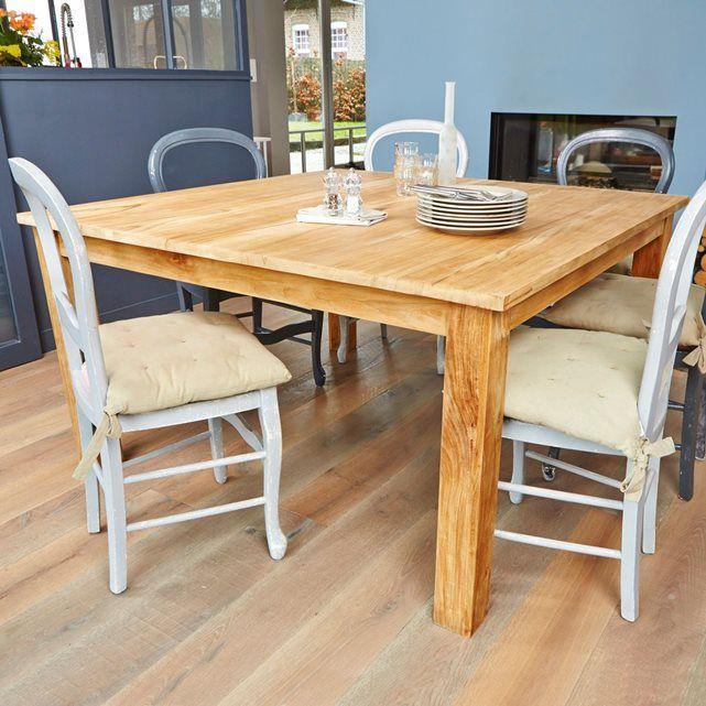 17 meilleures id es propos de finition de tables en bois sur pinterest re - Table salle a manger carree 8 personnes ...