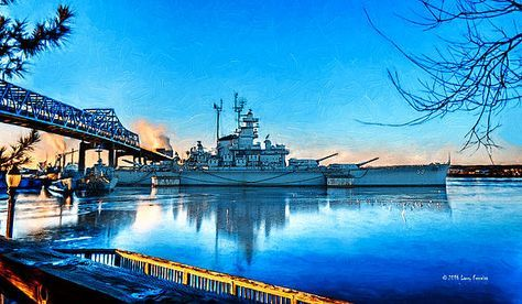 The USS Massachusetts located at Battleship Cove in Fall River, MA