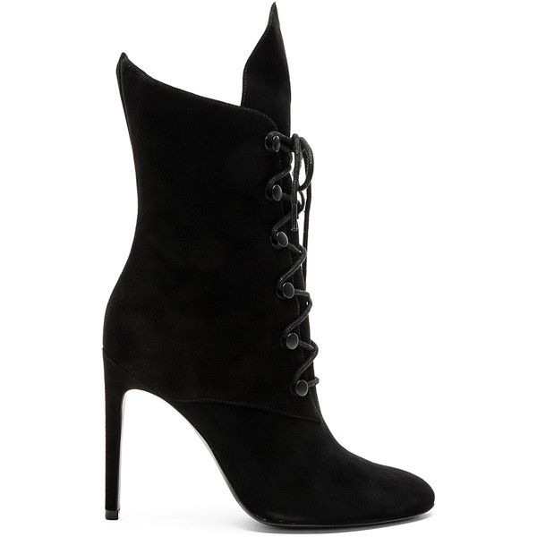 KENDALL + KYLIE Maya Bootie (300 AUD) ❤ liked on Polyvore featuring shoes, boots, ankle booties, ankle boots, booties, side zip boots, lace up bootie, lace up high heel booties and short boots