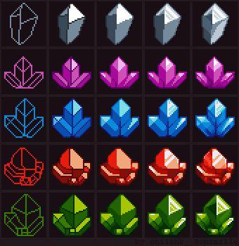 "Marmontel Boris en Twitter: ""Tutorial: How to draw crystals #gamedev #indiedev #pixelart https://t.co/JPix5BFIAA"""