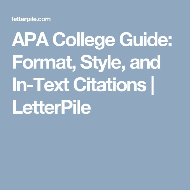 The 25+ best Apa guide ideas on Pinterest Apa style writing, Apa - guide to write a research paper