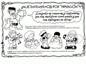 Resultado de imagen para imagenes infantiles dia de la tradicion argentina