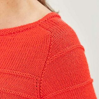 A lightly textured top down knitted jumper that is understated and easy to wear. If you've ever tried knitting in the round this is the perfect time to try.