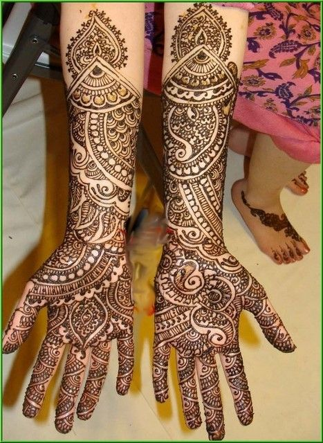 Bridal Gujarati mehndi design