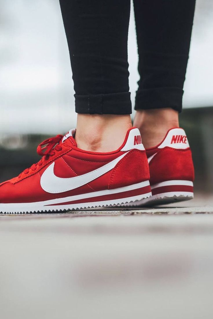 info for fresh styles save off best service 42278 0cf9b womens nike cortez shoes nylon red black ...