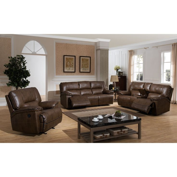 AC Pacific Dwayne Contemporary Power Reclining Sofa, Loveseat, and Reclining Chair