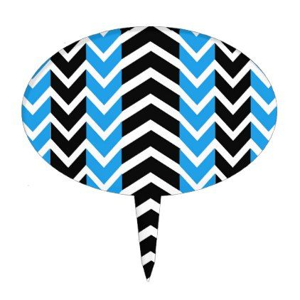 Blue and Black Whale Chevron Cake Topper - kitchen gifts diy ideas decor special unique individual customized