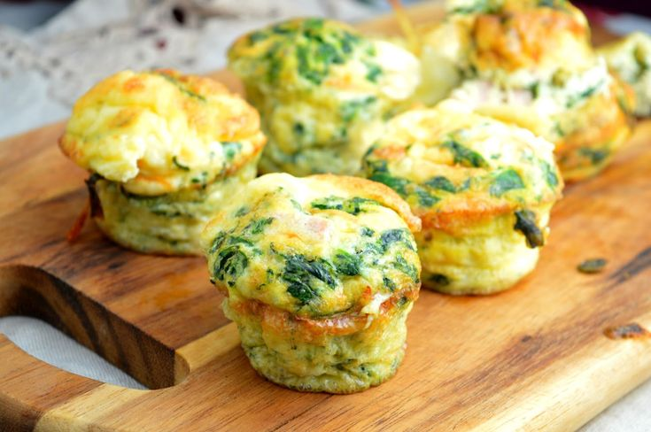 ... busy mums: Breakfast Cups with Scrambled Eggs, Spinach, Ham & Cheese