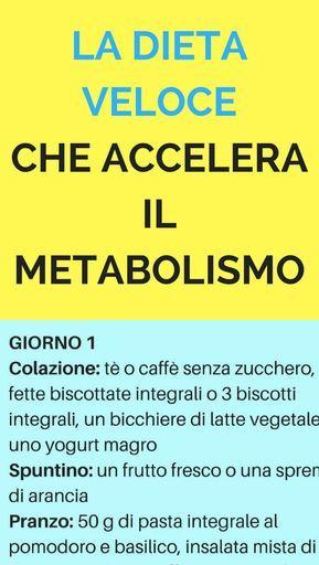 La dieta veloce che accelera il metabolismo e ti fa perdere 6 kg in poco tempo
