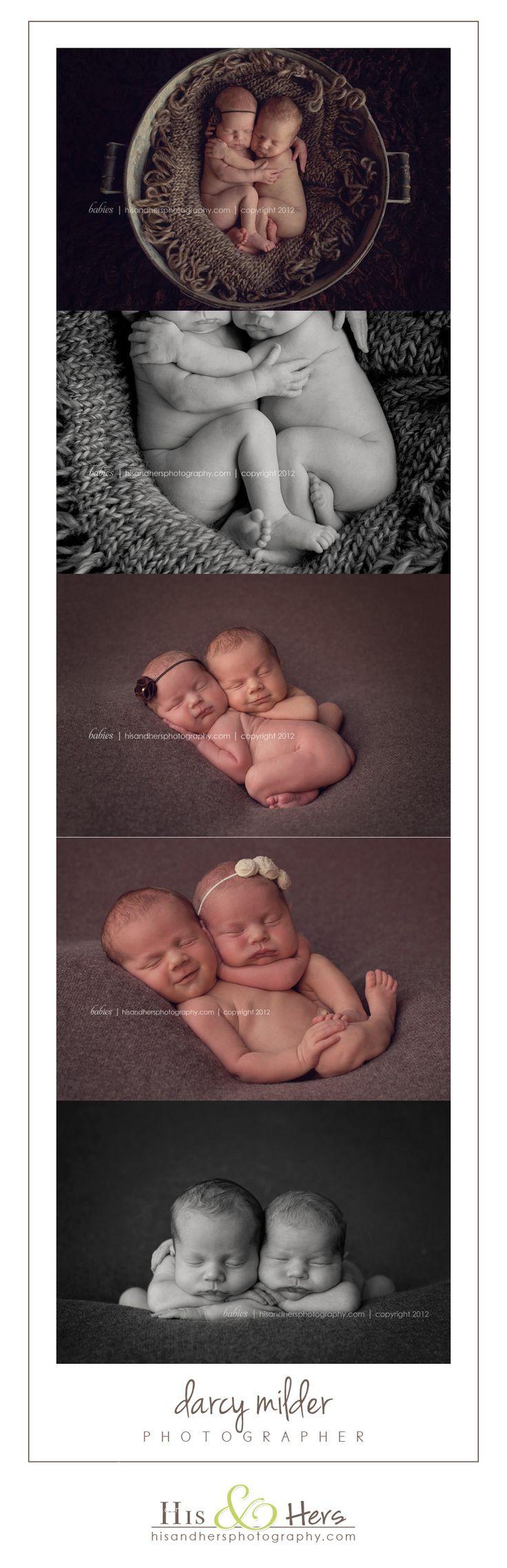 newborn twins // photographer Darcy Milder // His & Hers