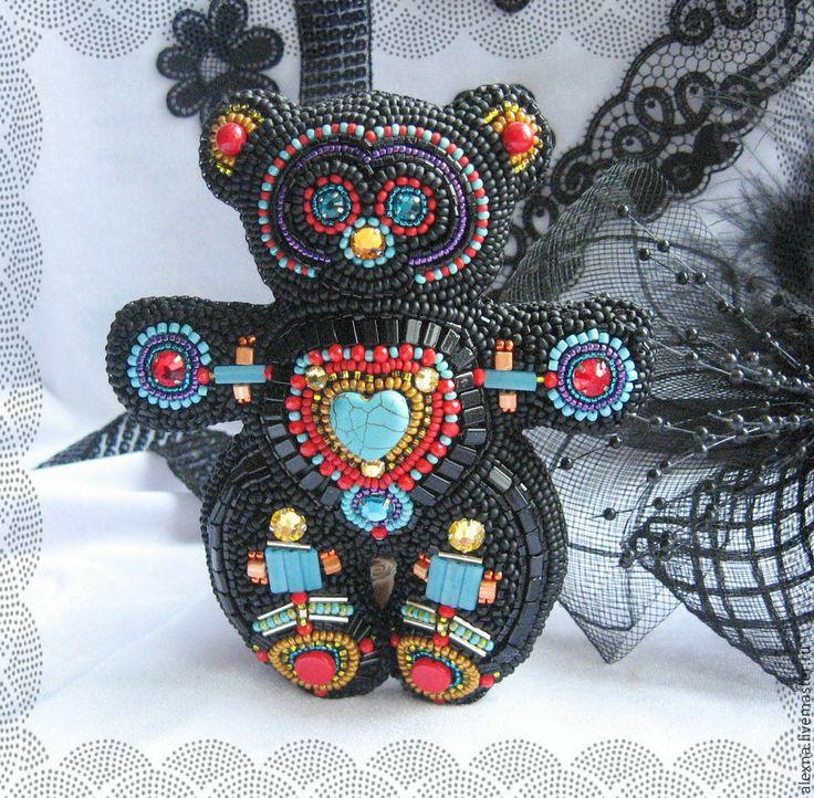 """Купить Мишка оберег """"Шаман"""" - разноцветный, черный, амулет, шаман, оберег, мишка, мишка оберег"""