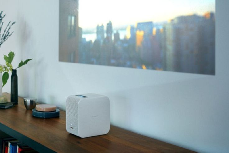 The new Portable Ultra Short Throw Projector (LSPX-P1) from Sony comes in the form of a little box that can beam an image onto any surface
