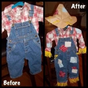 DIY Scarecrow Costumes : DIY Baby Scarecrow Costume