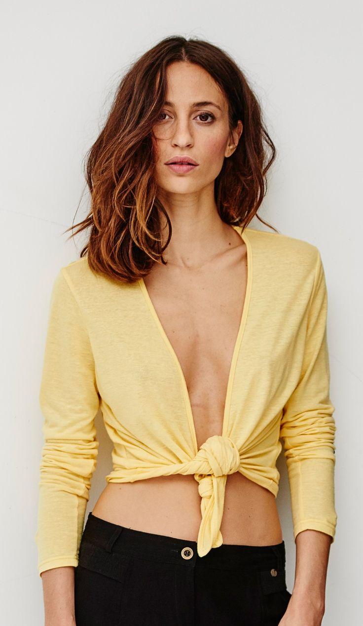 Gilet fin pour femme jaune soleil, ultra tendance : Sun