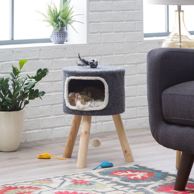 Boomer & George Cheshire Modernes Katzenbett – Grau   – Olivia