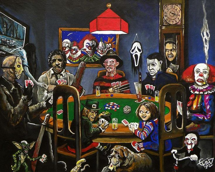 Horror Painting - Horror Card Game by Tom Carlton