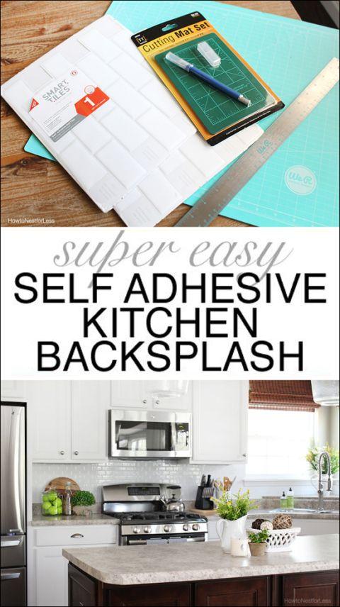 Self-Adhesive Kitchen Backsplash | Adhesive backsplash