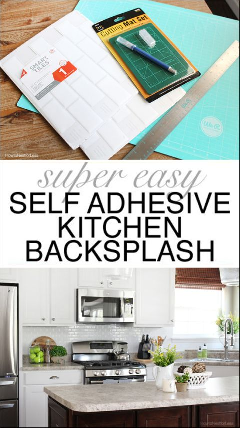 white subway tile self adhesive backsplash