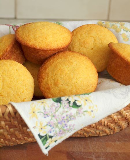 Corn Bread Muffins.....made these tonight and sooo good and moist.  Next time though I will put less sugar.  Very good!