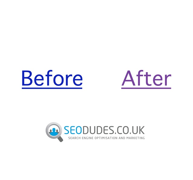 Seo Dudes : Click Link - Before / After  - Search Engine Optimisation.