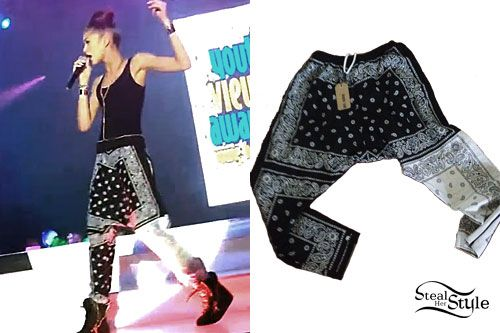 Zendaya: Black & White Bandana Pants