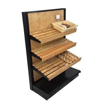 "bakery display bread shelves  36""W STORE SHELVING - Gondola End Cap for Bread Aisles!"