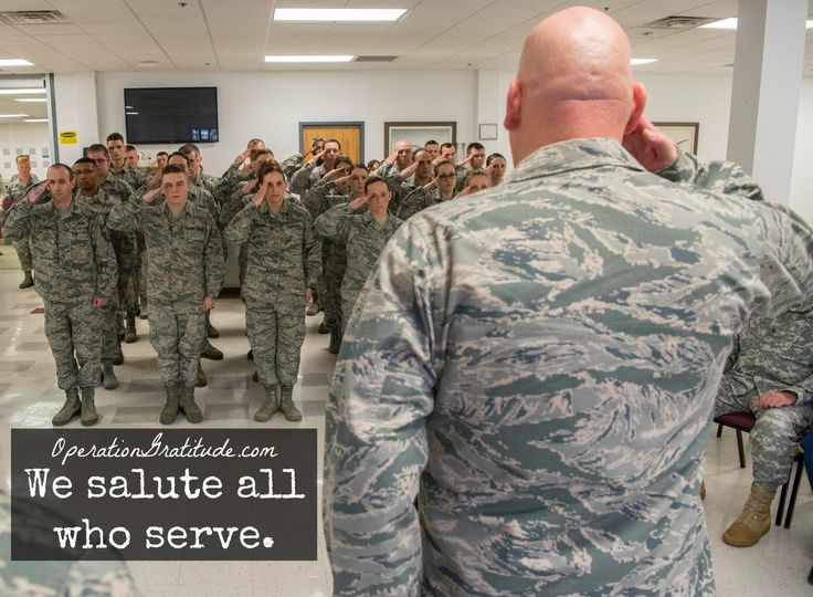 We salute ALL who serve and have served our country! http://www.OperationGratitude.com (#USAF photo by Staff Sgt. Michael Smith.)
