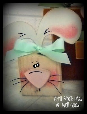 I love the natural look of the wood :) Cute bunny! got to get mine together this year!!