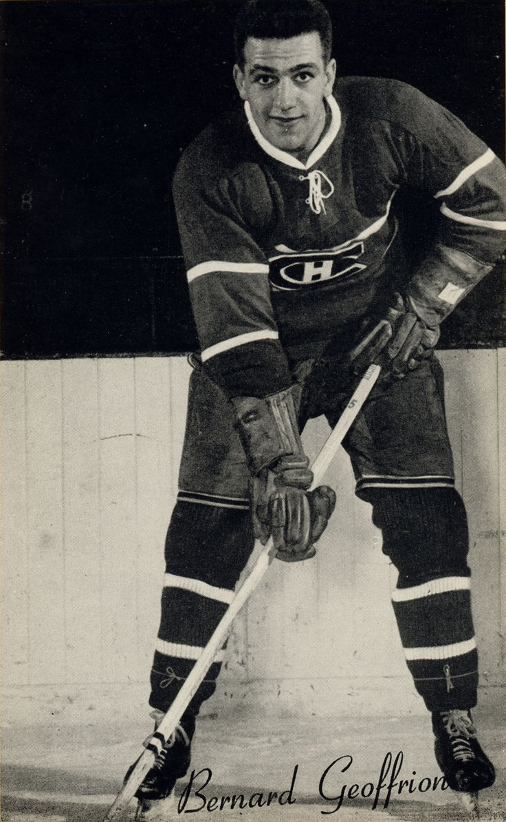 Bernard Geoffrion : Bernard Joseph André « Boom Boom » Geoffrion, aussi appelé Bernie, (né le 16 février 1931 à Montréal, Québec, décédé le 11 mars 2006 à Atlanta, Géorgie, États-Unis) est un joueur professionnel et entraîneur de hockey sur glace. Il est reconnu pour avoir popularisé le lancer frappé.