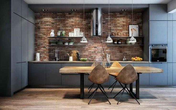 Moderne Küchenmöbel zu rühmen