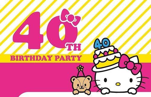Helo Kitty is 40!