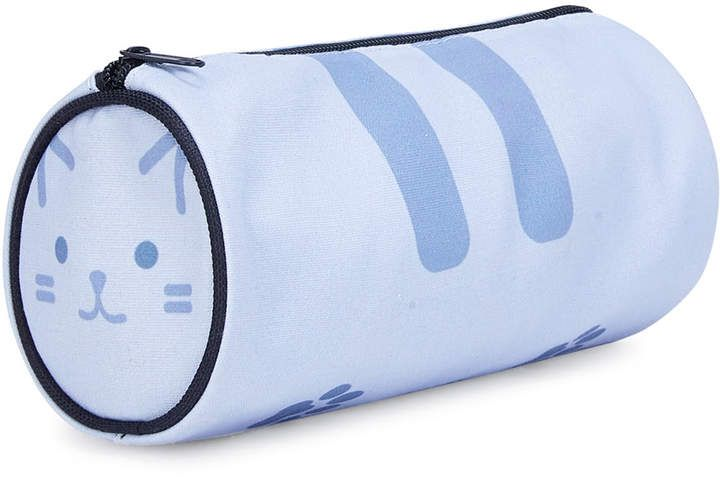 Cylinder Shaped Zipper Pouch. afflink. #affiliate #makeupbag #makeup #bag #cat