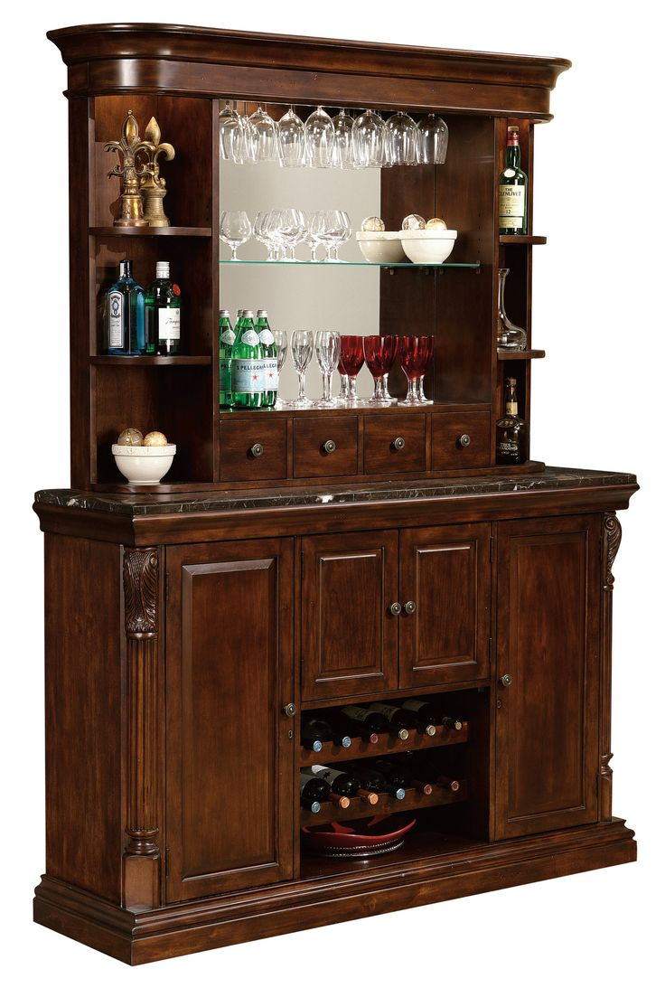 Howard Miller Niagara Bar Hutch 693-007 - Home Bars USA - 2