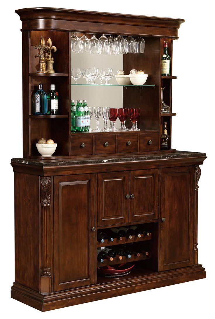 Howard Miller Niagara Bar Hutch 693-007 - Home Bars USA - 2
