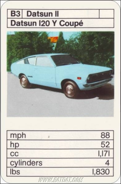 Top Trumps: Japanese Cars  The legendary 120Y Coupe!