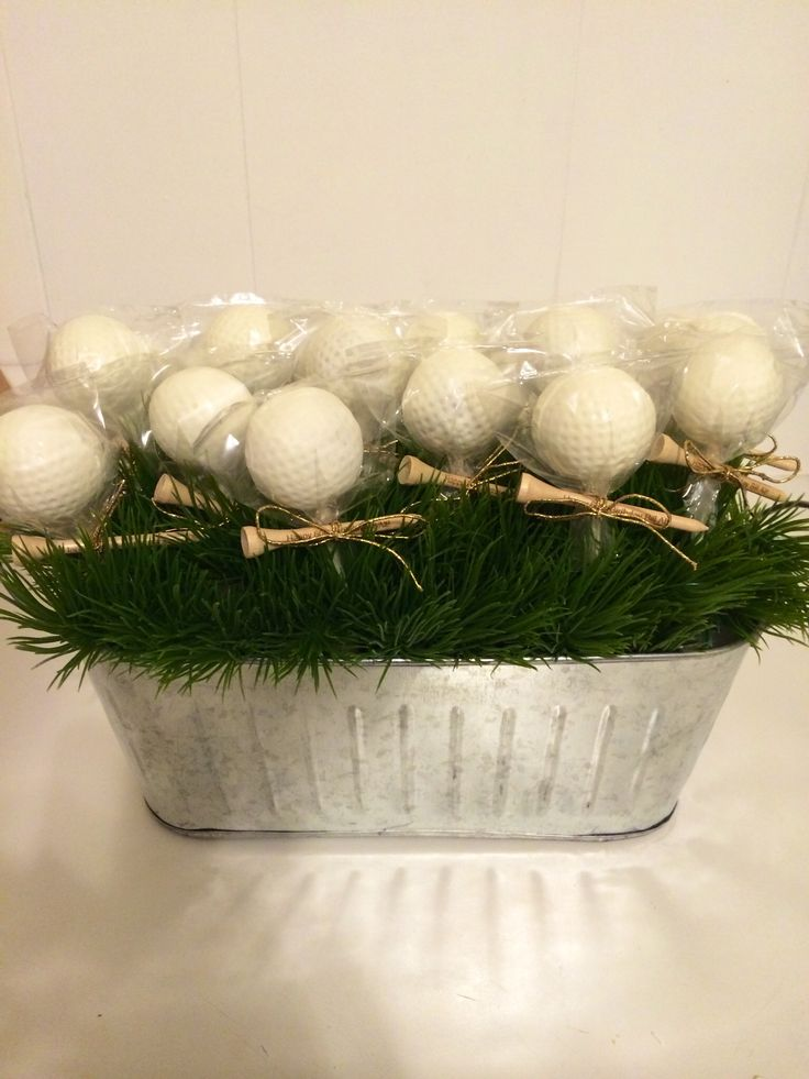 Golf Ball cake pops for a birthday. -jeniCakes cake pops
