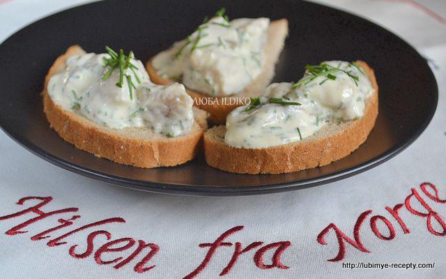 Норвежский рецепт бутербродов с сельдью 4