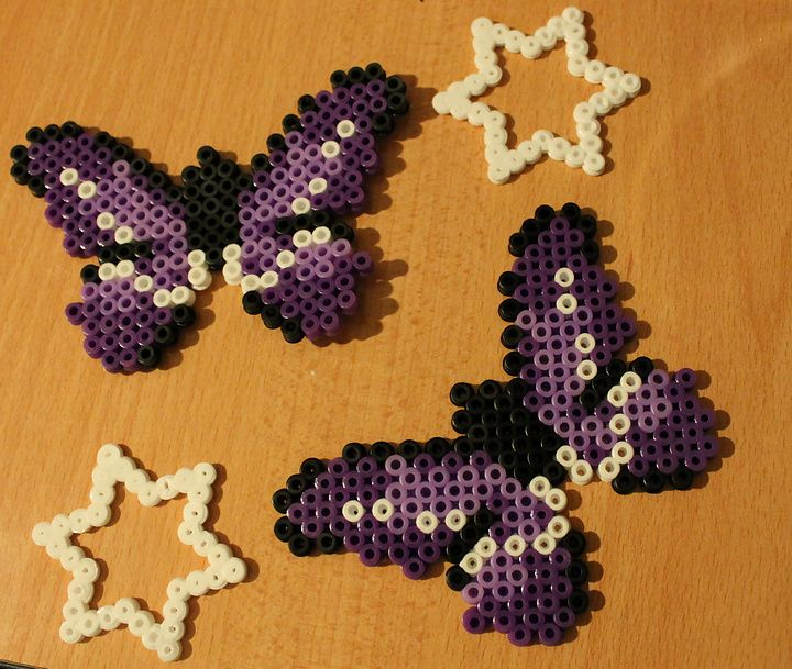 Butterflies hama perler beads by NotAPerfectGırl ♥