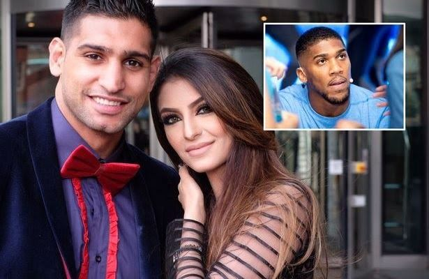 World heavyweight champion AnthonyJoshua has denied having an affair with wife of professional boxer Amir Khan.  Earlier Amir Khan accused his wife Faryal Makhdoom of cheating on him with Joshua.  Joshua however replied to the allegation saying Faryal Makhdoom was not his type of woman as he likes Big Black Women.  On his twitter page@anthonyjoshua he asked the couple to sort their differences alone and exclude him from their marriage. Bantz aside I hope you guys can resolve your situation…