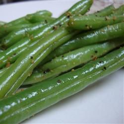 """Lemon Pepper Green Beans   """"How is this recipe so good?? Based on the ingredients I thought it would just be OK, but it was awesome. I made it with fresh beans and some European style butter. Just fantastic."""""""