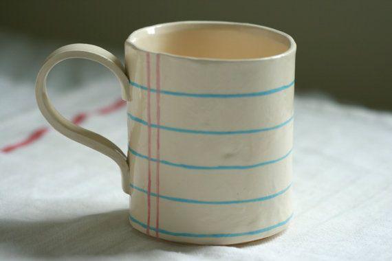 Ceramic Notebook Mug