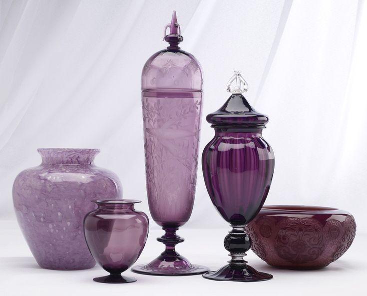 Vintage Steuben...love the purples.