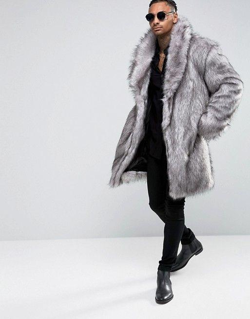 ASOS | ASOS Faux Fur Overcoat