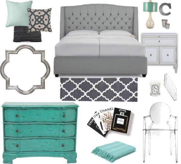 Gray And Teal Living Room By Jurzychic On Polyvore: 17 Best Ideas About Grey Teal Bedrooms On Pinterest