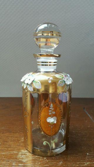 Carafe Jar Jar Joska Waldglashütte Bodenmais Gold Rarity Mouthblown Image