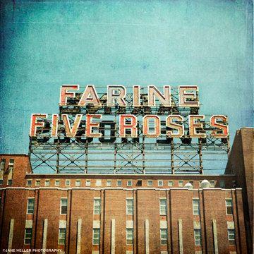 Farine Five Roses - Fine Art vintage Photograph - Montreal landmark series. $60.00, via Etsy.